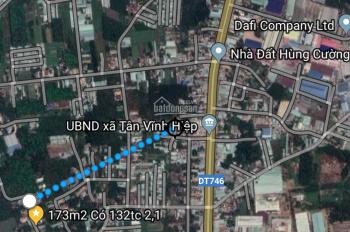 Bán 173m2 có 132m2 TC mặt tiền đường thông DX07 sang DX05 (cách DX07 50m) Tân Vĩnh Hiệp, Tân Uyên