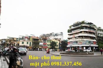 Cho thuê nhà mặt phố Chùa Bộc 100m2 mt: 8m 95tr/th Quý mặt phố 0981337456