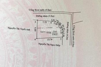 Giáp chủ   Lô góc Phú Lợi gần vòng xoay Hiệp Thành 3.
