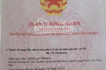 Chính chủ cần bán hơn 300m2 đất khu vực sân bay Quốc tế Long Thành, liên hệ: 094.123.5679