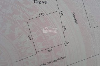 Cần bán lô 2 mặt kiệt ô tô Trần Thái Tông, khu cán bộ sân bay, Thanh Khê Đà Nẵng