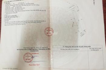 Bán Đất MT Đường Ngã Ba Lăn Xi,Phường Tân Định ,TX Bến Cát,Tỉnh Bình Dương: DT 10.5mx100m