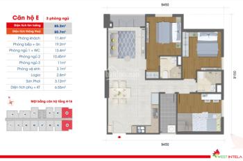 Bán căn hộ chung cư West Intela quận 8 giá 25triệu/m2, 3PN 85m2 - 0904.05.66.02 Trang