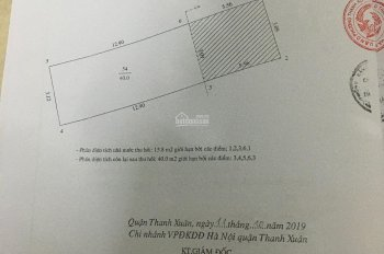 CC bán đất mặt phố Vũ Trọng Phụng, Thanh Xuân, 40m2, đường rộng 20m, vỉa hè 4.5m, KD cực tốt,10.5tỷ