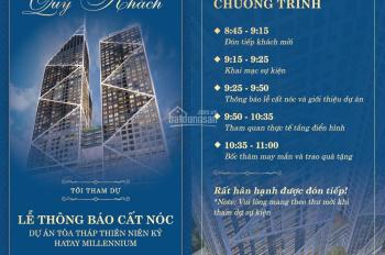 Tòa tháp Thiên Niên Kỷ cất nóc T11-Trực tiếp CĐT ra hàng đợt cuối, CS tốt nhất. LH CĐT 093.983.9191