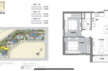 Cần cho thuê căn hộ 2 PN chung cư Vinhomes Trần Duy Hưng - căn góc hướng ĐN tòa C2