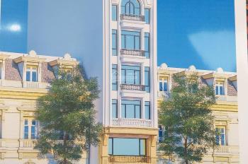 Cho thuê nhà mặt phố Phạm Tuấn Tài 55m2 xây 8 tầng thang máy 50tr/tháng đường hè 20m KDoanh tốt