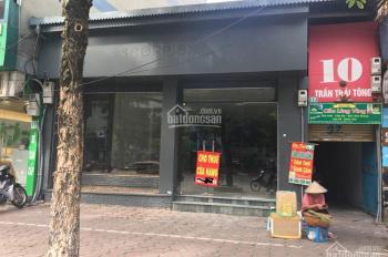 Cho thuê nhà mặt phố 14 Trần Thái Tông 140m2, mặt tiền 7m, vỉa hè rộng, (thời trang, showroom, ST)
