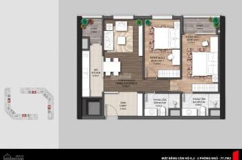 Bán căn hộ chung cư The Emerald CT8 Mỹ Đình, 2 phòng ngủ, ban công Đông Nam. LH: 0936196386