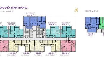 Chính chủ cần bán nhượng lại giá rẻ căn 90m2 tầng 19 tòa V2 The Terra Văn Phú Hà Đông chỉ 2,195 tỷ