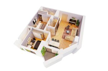 Trực tiếp CĐT bán căn 2 PN diện tích 82.6m2 ban công Đông Nam, full nội thất, tặng 150tr, vay LS 0%