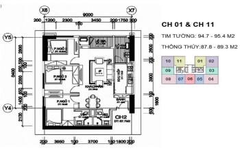 Chính chủ bán chung cư A10 Nam Trung Yên, căn 3PN, tầng 1811. DT 87,8m2, giá bán 30 triệu/m2