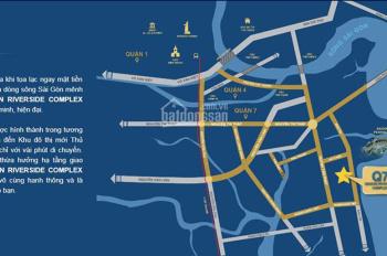 Căn hộ Q7 Sài Gòn Riverside, 2PN giá 1tỷ550, bàn giao full nội thất. LH: 0931431222