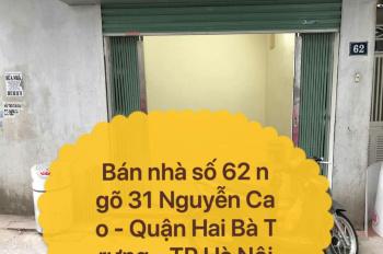 Chính chủ bán nhà đẹp số 62 mặt ngõ 31 Nguyễn Cao - quận Hai Bà Trưng, LH 0976740634