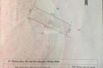 Chính chủ bán lô đất 133m2 khu Cống Đặng, Thạch Thất, Hà Nội, giá 27tr/m2. 0854059999 anh Lai