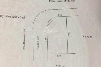 Chính chủ cần bán đất lô góc mặt tiền 12m đường Hoàng Quốc Việt. 0985133747