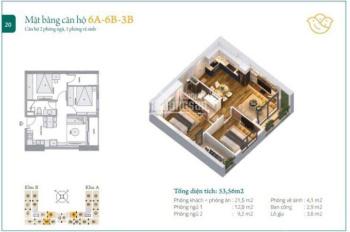 Chính chủ bán gấp căn hộ 54m2 dự án Anland Complex, giá 1.530 tỷ, LH 0989321163