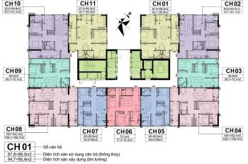 Chính chủ cần bán CH 1811 tòa CT1 chung cư A10 Nam Trung Yên, DT 95m2. Giá 29.5tr/m2, 0901798296
