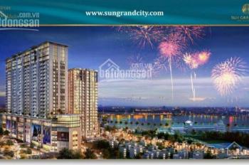 Bán gấp căn hộ Sun Grand city.DT: 98m, 2 ngủ. Giá 6,5 tỷ. Nội thất xịn xách vali vàoở.Lh:0916664220