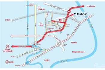 Mở bán 30 nền KDC Louis Resident, MT Đào Duy Từ, Dĩ An, Bình Dương giá ưu đãi 23tr/m2. LH 0933125290