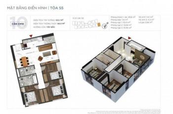 Bán suất ngoại giao căn góc 3PN diện tích 96m2 tòa S5 căn số 10 dự án Sunshine City