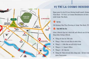 Bán căn hộ La Cosmo Tân Bình tầng cao, hướng Đông Nam, view Quận 1, 2 PN giá 3.3 tỷ