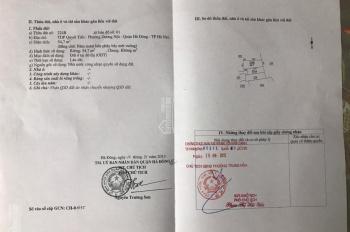Chuyển nhà bán đất thổ cư giá rẻ. Diện tích 54,7m2, giá 24 triệu/m2 La Dương, Dương Nội, Hà Đông