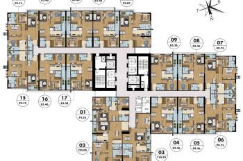 Cắt lỗ suất ngoại giao căn 3PN dự án chung cư Goldmark City 136 Hồ Tùng Mậu, LH 0974762816