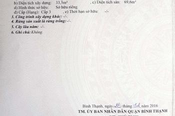 Bán nhà mặt tiền Bùi Đình Túy, Bình Thạnh, chỉ 7.4 tỷ