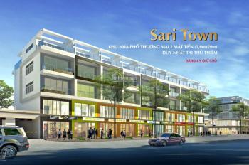 Cho thuê gấp Shophouse Saritown, Rẻ nhất Sala, 170 m2, Giá thuê 40tr/th.LH: 0948123911