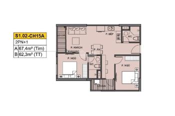 Bán căn mới siêu rẻ 63m2 2PN 2WC Vinhomes Ocean Park giá full thuế và phí BT chỉ 1.849 tỷ, tặng thẻ