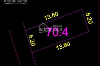 Bán đất tại đường Cửu Việt 2, Trâu Quỳ, Gia Lâm. DT 69m2, mt 5m2, lô góc. giá 34.5tr/m2.