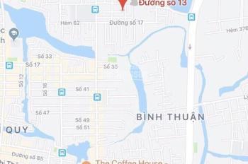 Nhà mặt tiền đường số 13, p.Tây Thuận Tây, Quận 7