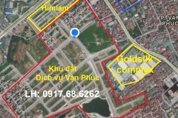 Chuyên mua - bán (ký gửi) đất dịch vụ Vạn Phúc, Hà Đông dt 50m2 đường 12m, 24m giá rẻ, đất tự xây