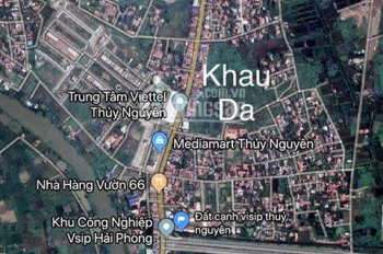 Bán mảnh đất khu đấu giá Khau Da đối diện Lan Chi Mart, Thủy Sơn, Thủy Nguyên - 0938810510