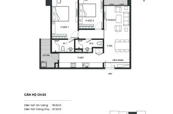 Chính chủ bán căn hộ 87m2, full nội thất cao cấp tòa N01T5(Lotus 1) Ngoại Giao Đoàn, 33 tr/m2