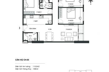 Chính chủ bán căn hộ tòa Lạc Hồng Ngoại Giao Đoàn N01T5, 3 PN, giá 32 tr/th