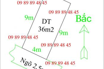 Cần tiền bán gấp 36m2 đất giá mềm tại Trâu Quỳ, Gia Lâm, MT 4m, đất vuông vắn