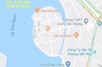 Dòng tiền, hơn 30 tỷ mỗi tháng 120tr, 10 tầng mặt phố gần Trấn Vũ, Ba Đình