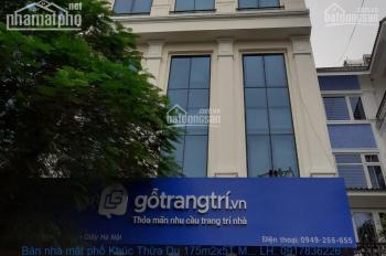Chính chủ bán nhà mặt phố Khúc Thừa Dụ 175m2 LH 0917836226