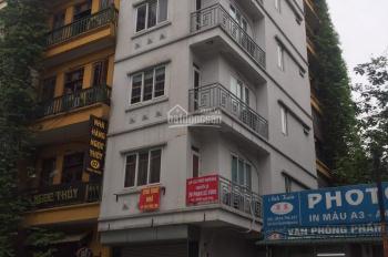 Cho thuê nhà MP khúc Thừa Dụ, 34m2 x 6.5 tầng, MT4m, giá 50tr. Nhà mới, thông sàn, có thang máy.