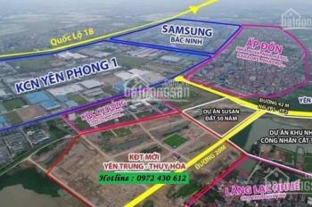 Cần bán đất nền Yên Trung Thụy Hòa, Cạnh Nhà máy SAMSUNG, Trục chính Từ KCN Đi Vào, Giá Đầu Tư.