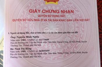 Cần tiền bán rẻ đất mặt đường 427, gần dốc Vân La, huyện Thường Tín, Hà Nội.