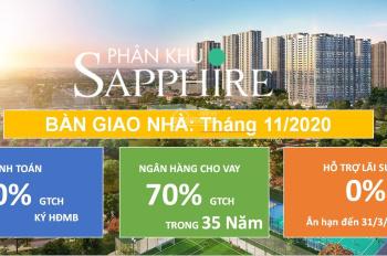 Ngoại giao căn 48m - 1PN+1 -  khu Saphire 1 - chỉ có 1 tỷ 2xx - DA Vinhomes Gia Lâm. LH: 0964413199