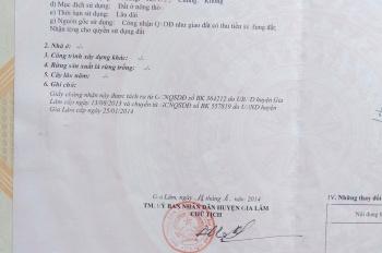 Chính chủ bán đât thổ cư ở Dương Quang Gia Lâm Hà Nội. LH: 0585333789