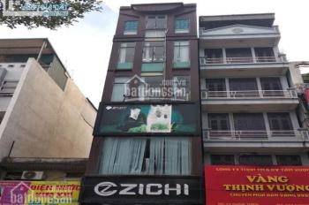 Cho thuê nhà mặt phố Khâm Thiên, 80m x 6 tầng, mặt tiền: 5,3m. Thiết kế thông sàn.