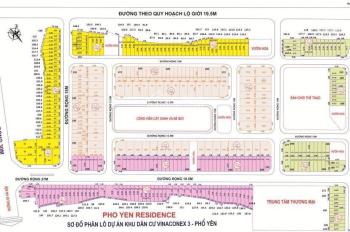 Đầu tư kẻo lỡ cơ hội có 1-0-2 đất nền Phổ Yên Thái Nguyên, Vinaconex3 - Residence. LH: 0918.399.268