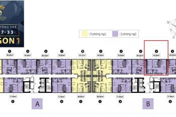 Bán căn Topaz Elite 2PN/2WC tầng 28, diện tích 79m2, view hồ bơi, chênh lệch 340tr. LH: 0932028277