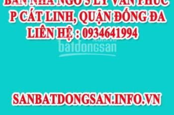 Bán Nhà Ngõ 5 Lý Văn Phúc, P Cát Linh, Quận Đống Đa, Hà Nội
