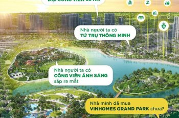 Bán Shophouse Vinhomes Grand Park, LH; 0938 284 786